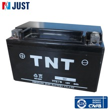 Volume TNT 12v 7ah dry cell motorcycle battery with favourite prices