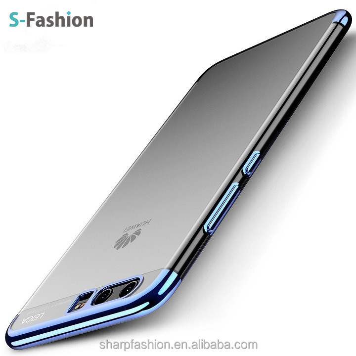 Luxury Clear Electroplating Soft TPU Shell Cover Case For Xiaomi Huawei MATE9,P10 PLUS,