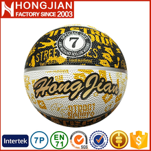 HB023 fashionable full color print deep groove basketball