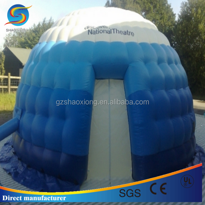 hot durable comercial small inflatable igloo movie theater ,mobile inflatable dome tent in amusement park