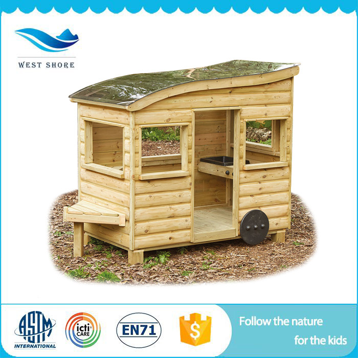 Customized Professional malaysian wood furniture cubby houses wooden outdoor play group toys Chinese Factory