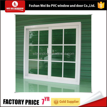 UPVC Frame colorful PVC sliding window with plastic steel