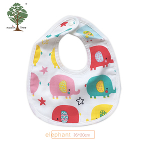 Muslin tree 100% cotton wholesale baby fabric bibs
