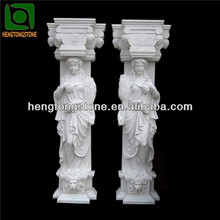 Marble Building Pillar Design Statue Carved Square Pillar