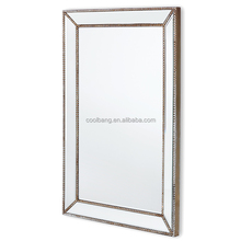 decorative wall mirror rectangle MDF wood frame mirror