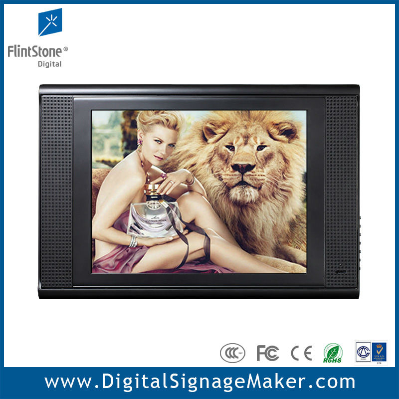 "15"" advertising lcd hdd media player"