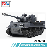 High quality simulation 1:20 German tiger plastic rc tank model for sale