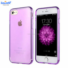 Colorful transparent TPU mobile phone cover back case for iphone7 7PLUS