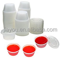 disposable transparent plastic PET sauce portion jello shot cups 2oz with 62mm lid