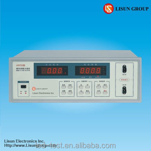Lisun UI9702 Magnetic Core Selector which frequency for test: 20-50kHz, both continuously adjustable, Compl