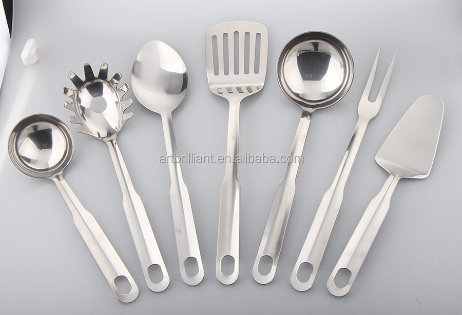 BRILLIANT BA0028 FDA/LFGB Approval silicon Kitchen Utensils 7 piece Set/Cooking Tools