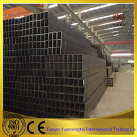 Professional factory steel welded square steel pipe / galvanized square pipe
