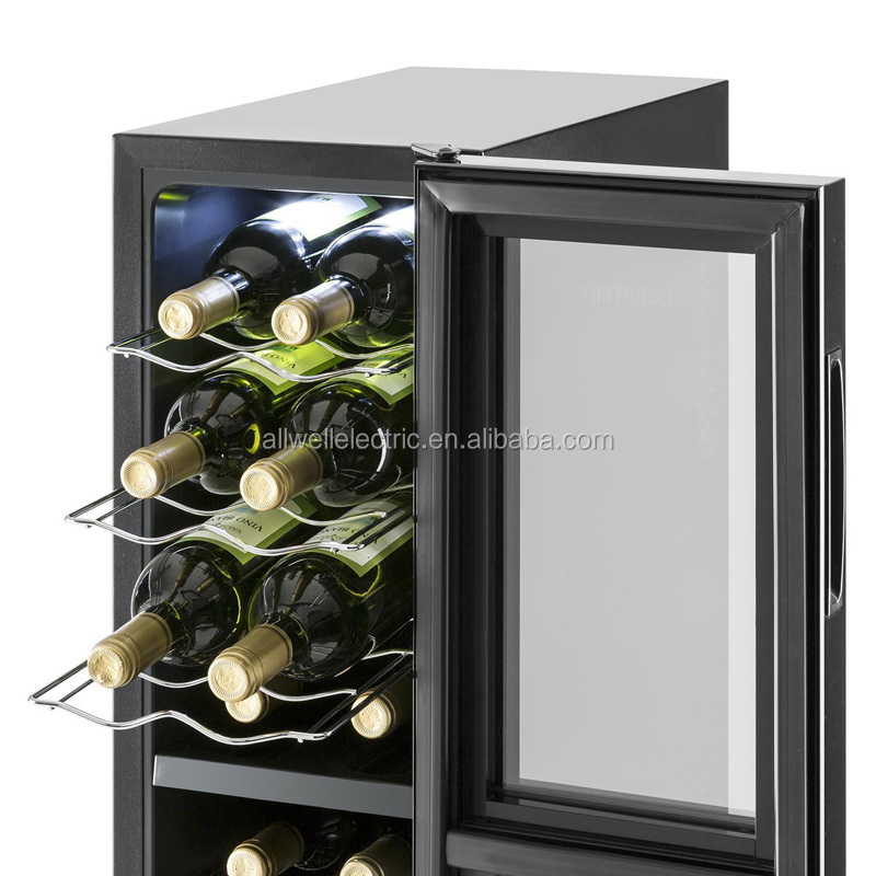Best small black tall narrow tall thin glass door compact drink and wine fridge