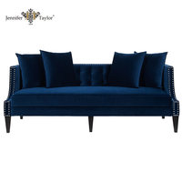 Furniture factory with home and abroad designers 3 seaters sofa, solid wood velvet comfortable sofa, upholstery sofa