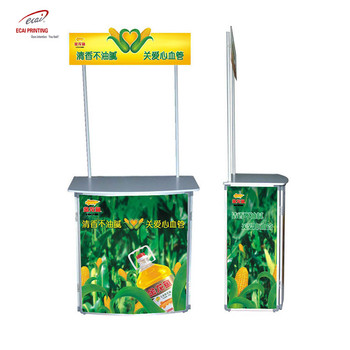 China custom PVC promotion counter booth, promotion table for trade show