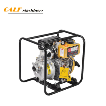 Portable self-priming water pump with oil diesel engine for fire fighting equipment