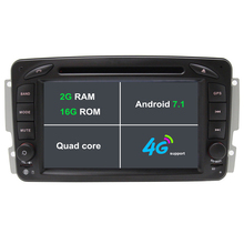 2G RAM Android 7.1 Car DVD Player For Mercedes/Benz/W209/W203/W163/W463/Viano/W639/Vito Car radio GPS stereo tape recorder