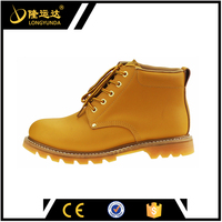 Yellow Microfiber Smooth Action Nubuck Leather Kevlar Safety Shoes Sole Goodyear Safety Shoes