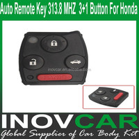 2008-2012 Auto Remote Key 3+1 Button 313.8 MHZ For Honda Car Remote Key