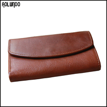 Fashion mens long genuine leather smart wallet