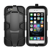 Shockproof Waterproof Cellphone Case For iPhone 6 With Kickstand