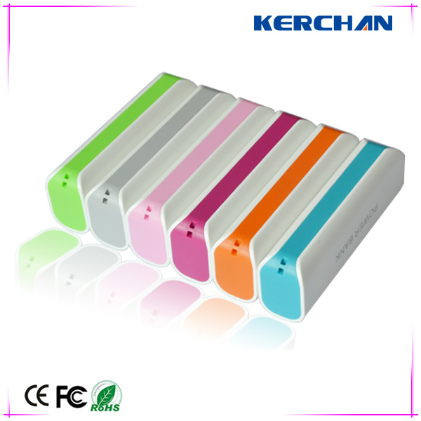Popular mini colorful power bank external batteries case for ipad