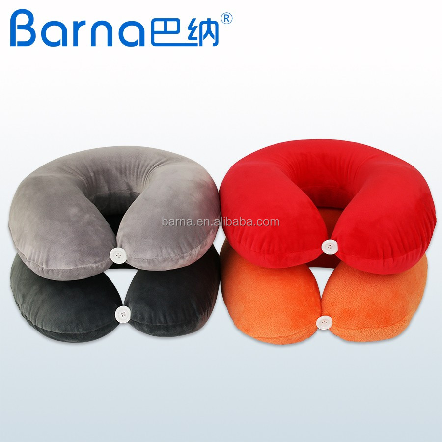 Memory foam U Shape Pillow Portable Travell Airplane Neck Pillow Cervical Vertebra Pillow Office Rest