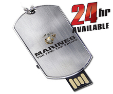 military dog tag usb flash drive with logo printing