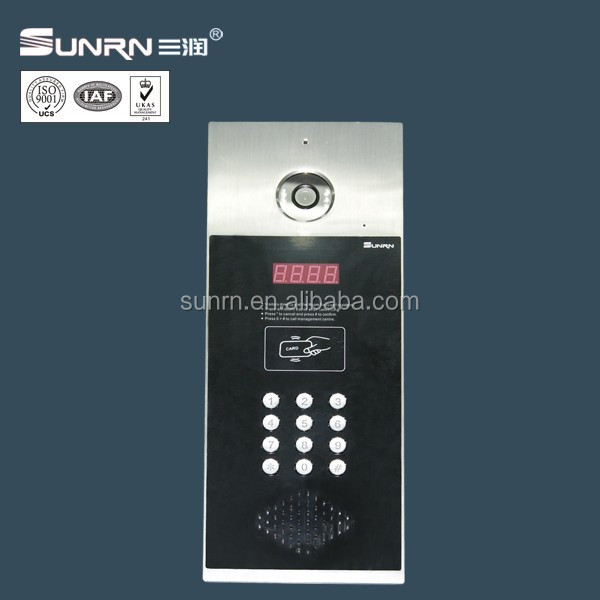 9999 indoor unit supported CAT5 building apt door phone with clear video