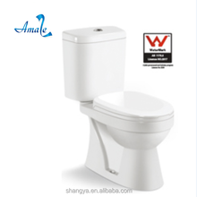 High quality washdown two-piece closet ceramic toilet with watermark chaozhou factory price