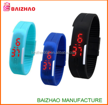 hot promotion ultra light bracelet touch wrist watch LED water resistant sports watches
