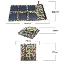 18W new foldable solar charger for notebook for travel with dual voltage controller