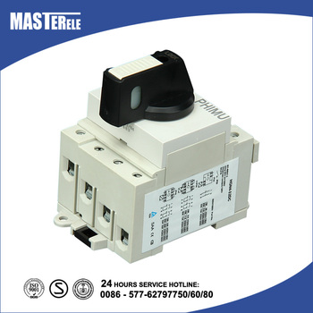 Din Rail Type DC Load Break Switch Waterproof PV Isolator HGN4-03