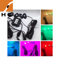 auto decoration 4/8/12sets rgb led rock light with APP remote control flashing led deck light for jeep car, ATV, SUV