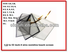 8, 8.1, 8.2, 8.4, 8.7, 8.8 inch 4 wire resistive touch screen panel for intercoms, advertising player, GPS car navigation