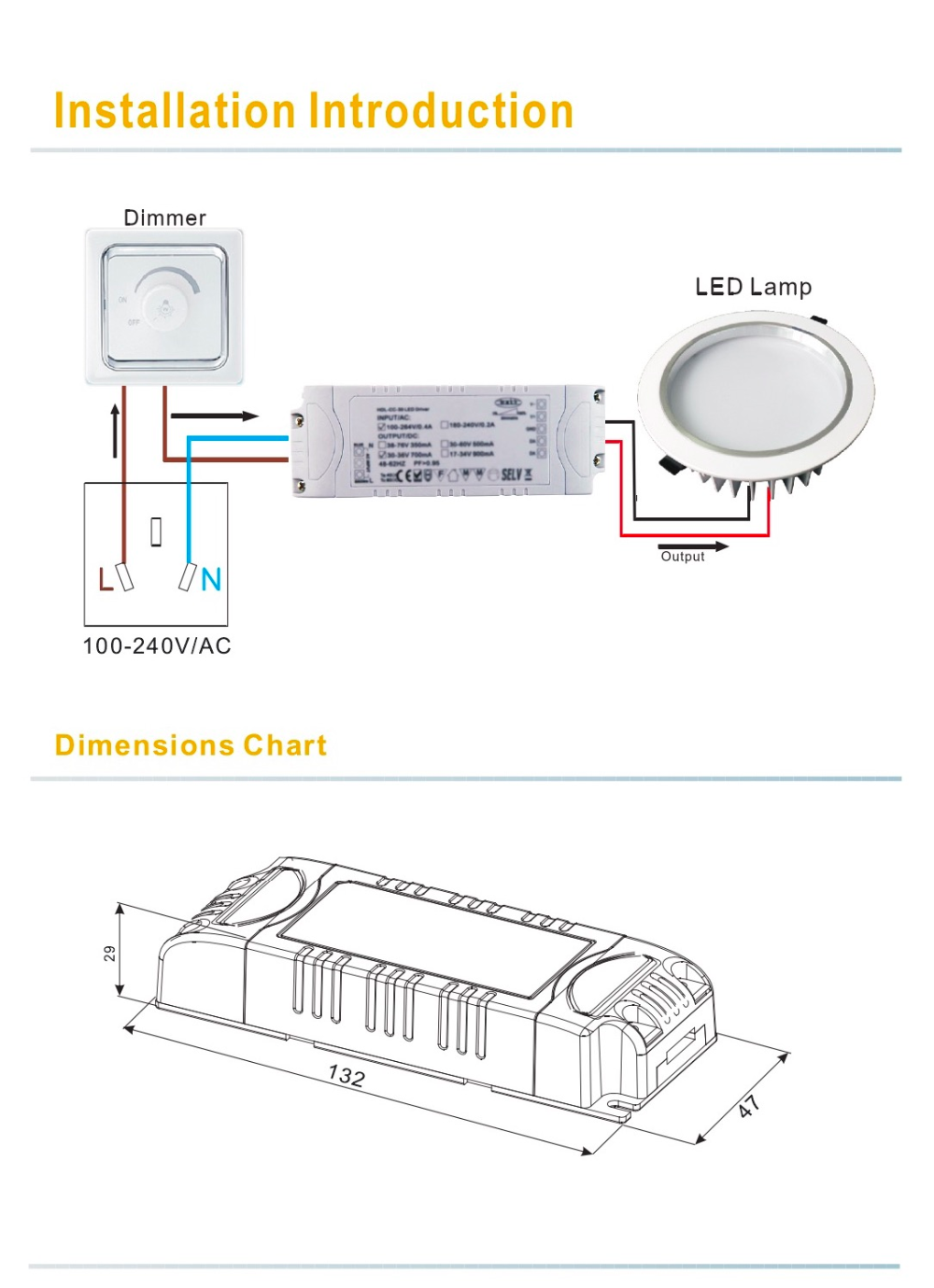 Constant Current 1500mA 40W Triac dimmable LED driver