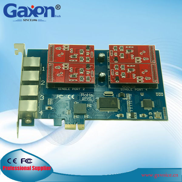 PCI-E 4 Port FXO Gateway, Asterisk FXO Card Gaxon TDM410E