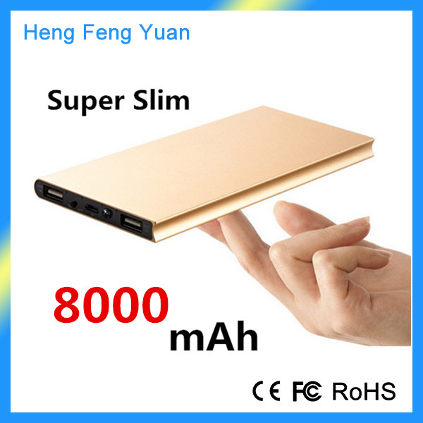 Hot Products Portable Super Slim Power Bank 8000mAh for iPhone 6 Mobile Phone Power Bank