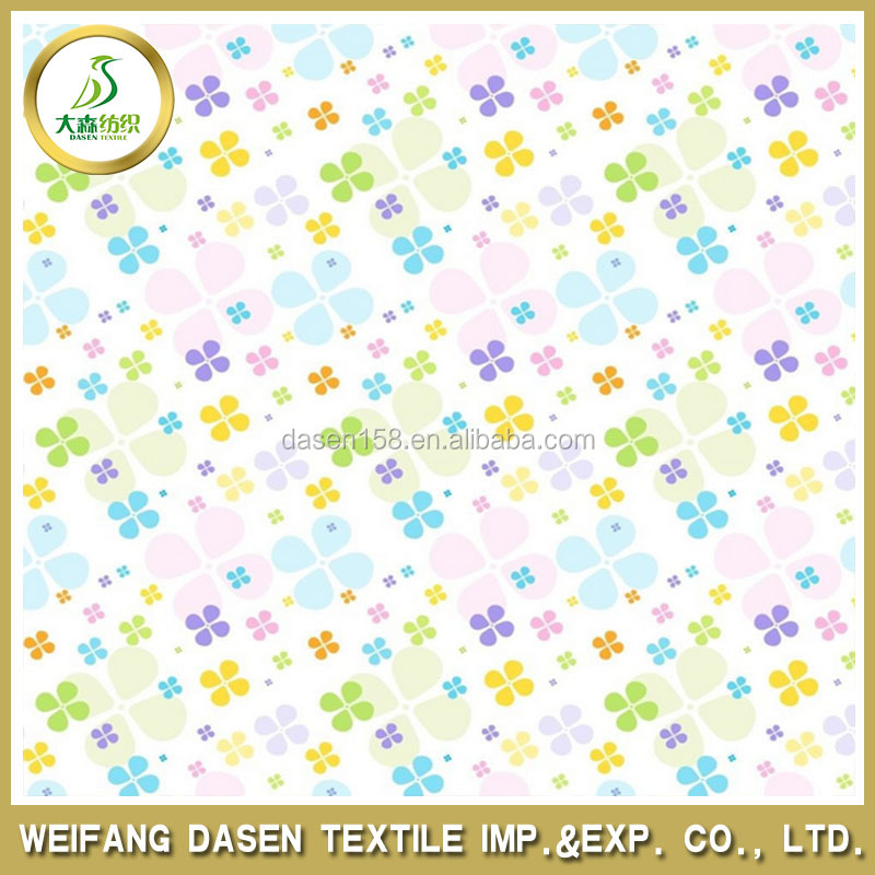 Light color flora pattern 100% polyester Printed Fabric