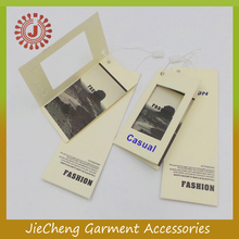 manufacturer garment paper fashion personalized cloth hang tags label for bag