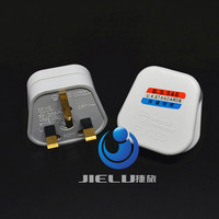 White 3 Pin UK Mains Top Plug 13A 13 AMP Appliance Power Socket Fuse Adapter Household,1 pcs
