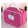 High quality leather travel cosmetic bag
