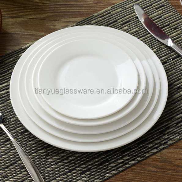 Wholesale white Round Porcelain Dinner Plate, Ceramic Plate For Restaurant, China White Bulk Cheap Ceramic Plate Wholesale