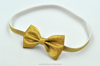 2.5INCH Glitter Bow Headband Gold Silver Glitter Headbands Baby Headband Baby Girl Hair Accessories