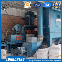 Roller Conveyor Type Marbles Shot Blast Cleaning Machine