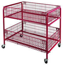 High Quality & Ajustable display rack plastic sprayed cart for medical/ shopping / supermarket HSX142
