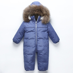 2018 hot winter down coat children baby warm snowsuits newborn hooded romper kids baby boys girls winter jumpsuit children cloth