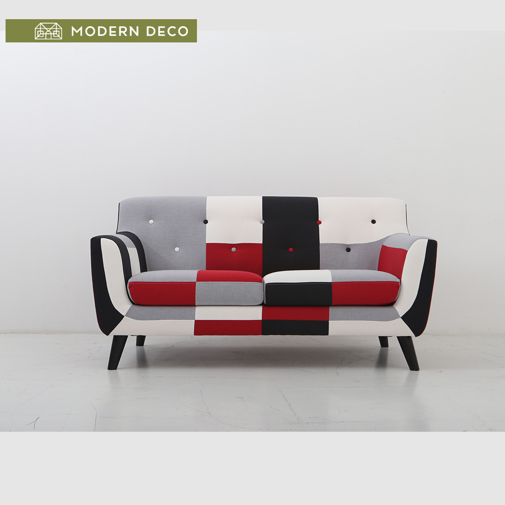 China manufacture 2016 new modern two seats fabric sofa