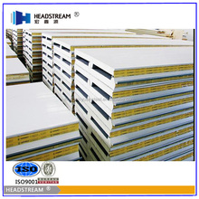 Prefab house EPS/ Rockwool / PU Polyurethane roof sandwich panel from shandong hongxinyuan factory