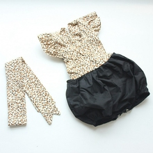 Infant Baby Girls Leopard Print Skirted Romper Jumpsuit Baby Onesie